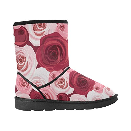 InterestPrint Classic Size Print Color1 On Bike 5 Colorful Stripe Rose 12 Snow 5 Womens Pattern Geometry Boots Flowers rrwOdS