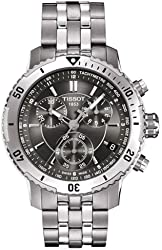 Tissot Men's T067.417.11.051.00 Silver Stainless-Steel Quartz Watch with Black Dial