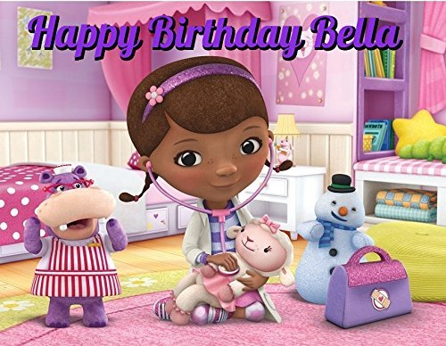 Doc McStuffins Edible Image Photo Cake Topper Sheet Personalized Custom Customized Birthday Party - 1/4 Sheet - 78486 ()