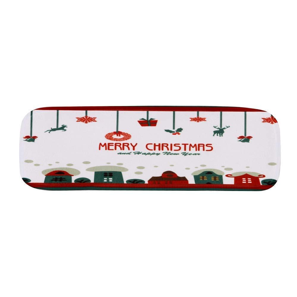 LLIND Christmas Decoration 5pcs Non-Slip Coral Fleece Resistant Carpet Stair,Christmas Print Stair Mat Floor Mats 22x70cm,Christmas Decor (Multicolor E) (Color : Multicolor B)