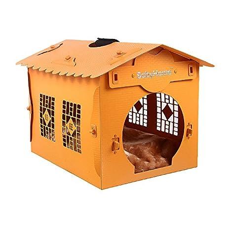 Perro cama de madera maciza de madera maciza de verano la perrera CAMA CAMA Mascota caniche