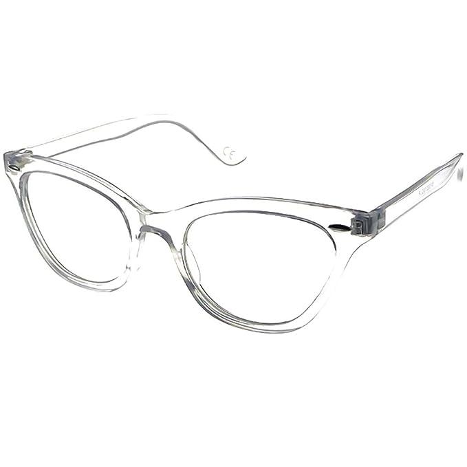 Occhiali neutri KISS® - mod. PIN-UP CAT EYE - montatura da vista DONNA cult Rockabilly vintage - HAVANA B5vJhC9tw