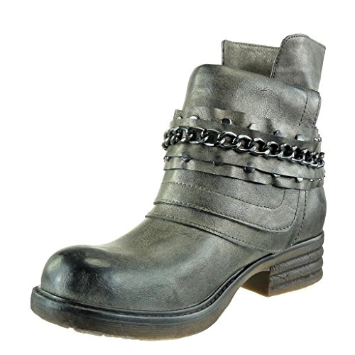 Gun 3 Cavalier 5 Nodo Angkorly Stivaletti Camouflage Catene Bottino Block Women's Cm Fashion Bi Materiale Shoes Heel BqqwaXO