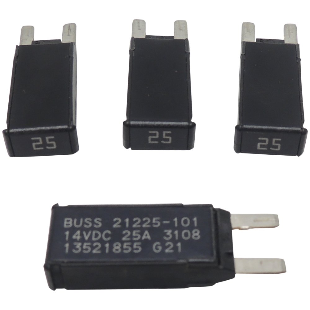 Cb212 25 Bussman Circuit Breakers 4 Pack Amp Type Ii Atm Breaker Types Video Different Of Ehow Footprint 14vdc 25a Automotive