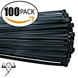 zip ties for car tires - 18-inch Cable Zip Ties. Thick Premium Heavy Duty. 100 Piece Value Pack of Black Nylon Wire Zip Ties by Strong Ties. 175 Pounds Tensile Strength, Indoor Outdoor UV Resistant.