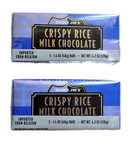 Belgian Chocolates Milk - Trader Joe's Belgian Crispy Rice Milk Chocolate, 1.4 oz Bars (2 Packs of 3)