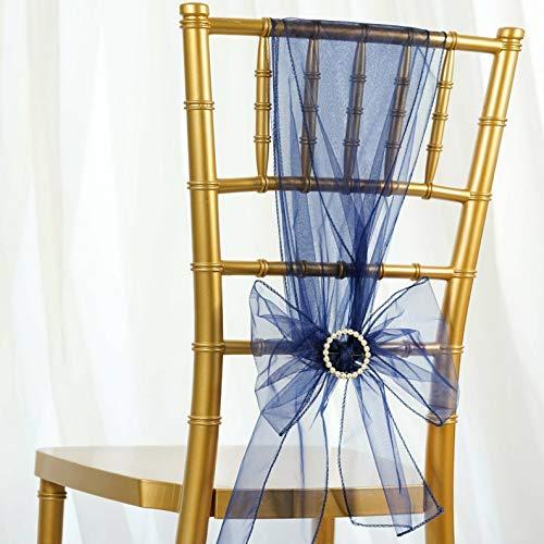 Mikash 50/PK ~New~ Sheer Organza Chair Sash Bow Wedding Party Banquet 20+ Colors! | Model WDDNGDCRTN - 20631 | -