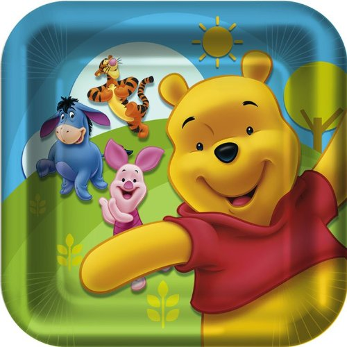 Pooh and Friends Square Dinner Plates (8 ()