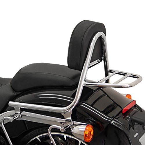 Sissy Bar+ luggage rack Fehling for Harley Davidson Softail Breakout (FXSB) 13-17 silver