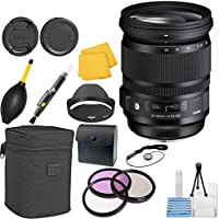 Sigma 635101 24-105mm F 4.0 DG OS HSM Zoom CT Lens Bundle for Canon EF Cameras