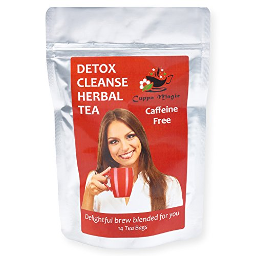 DETOX CLEANSE HERBAL TEA - Reduce Bloating - Stomach Pain - Acid Reflux and Stress - Impressive Gentle Body Cleanse - Supports the Digestive System -100% Organic Decaf Tea - 14 Day