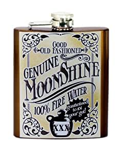 "Spoontiques Hip Flask, ""Moonshine"""