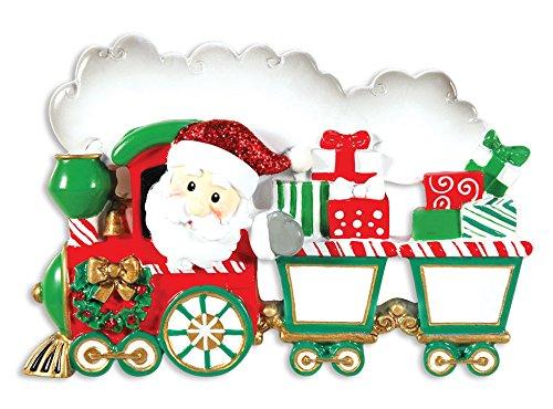 Personalized Single (PERSONALIZED CHRISTMAS ORNAMENTS FAMILY KIT-SINGLE FAMILY TRAIN 3-4 KIDS)
