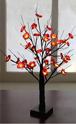 Creative Motion Height 36 Light LED Flower Tree Desk-Top Light, 24-Inch (Lamp Flower Table)