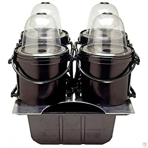 Aeroponic 4 pod system one pump - 8 site lid