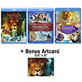 The Chronicles of Narnia: Complete Movie Trilogy Blu-ray Bundle (The Lion, the Witch and the Wardrobe / Prince Caspian / Voyage of the Dawn Treader) + Bonus Art Card