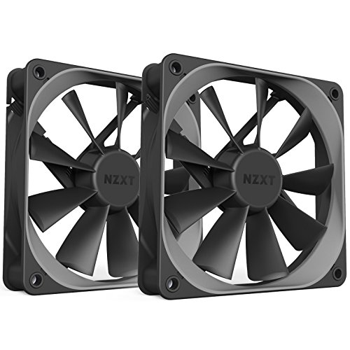 NZXT AER Computer Case Fan Dual Pack 120mm (RF-AF120-D1) by Nzxt