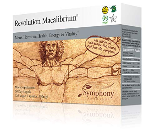 (Revolution Macalibrium - Natural Concentrated Gelatinized Maca Supplement to Support Men's Hormone Health, Energy, Strength, Power, Vitality and Sexual Health - 120 vegan capsules (60 day supply))