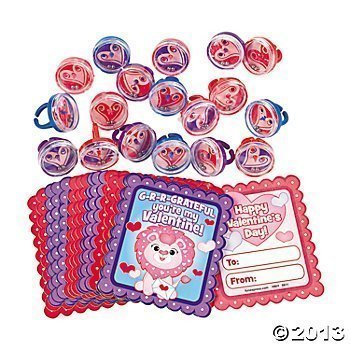 36 Plastic Valentine Pill Puzzle Ring Favors With Cards Valentines Day Party Supplies And