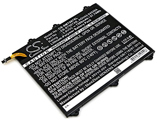 HENZENS 7300mAh Li-Polymer Battery Replacement EB-BT567ABA for Samsung SM-T567 , SM-T567V , Galaxy Tab E 9.6 XLTE ,SM-T560NU