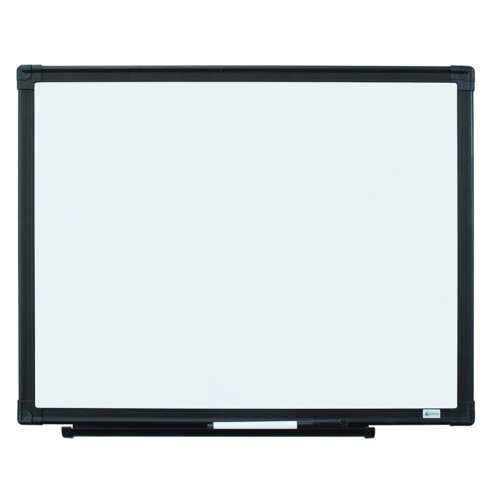 Lockways Magnetic Dry Erase Board - Magnetic Whiteboard/White Board 24 x 18 Inch, Silver Aluminium Frame, 1 Aluminum Marker Tray, 1 Dry Erase Markers, 2 Magnets for School, Home,Office