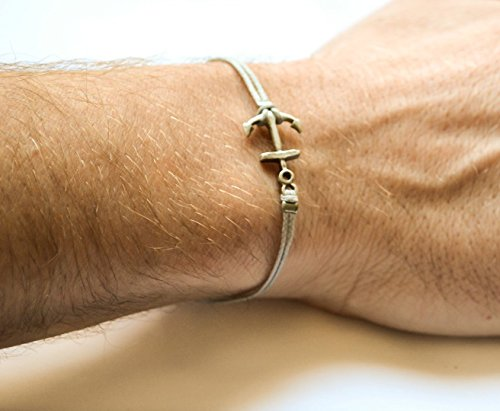 Anchor bracelet silver nautical jewelry product image