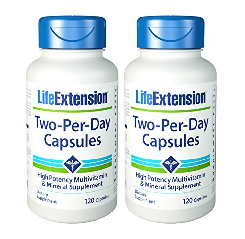 Life Extension Two Per Day Capsules, 120 Count (2 pack) (Life Extension Multi)