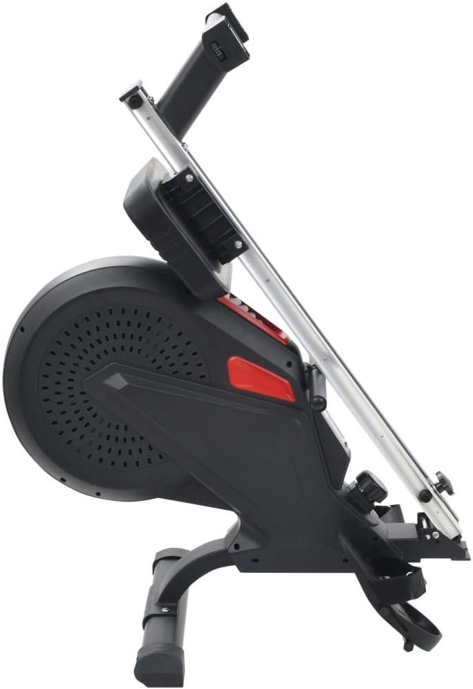 vidaXL Máquina de Remo Resistencia Aire Entrenamiento Musculación Ejercicio