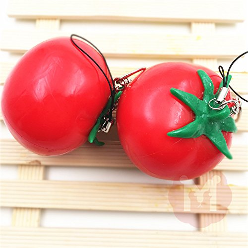 [Squishy Toys Simulate Soft Fruit Tomato Decor Cellphone Bag Straps] (Homemade Penguin Costumes)