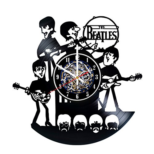 Cheap The Beatles Best Design Wall Clock Made From Used Vinyl Record – Get unique bedrom or living room wall decor – Gift ideas for boys and girls – Unique Rock Music Fan Art