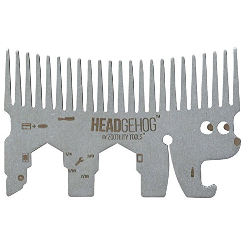 Zootility Tools™ Headgehog™ Silver the 7+ Function Utility Comb That Fits in Your Wallet!