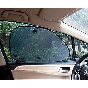 Zone Tech Mesh Side Window Sun Shades - 2-Piece Premium Quality Car Pop-Up Mesh Side Window Sunshade