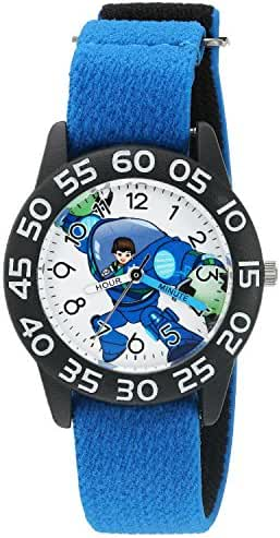 Disney Boy's 'Miles from Tommowland' Quartz Plastic and Nylon Watch, Color:Blue (Model: W003058)