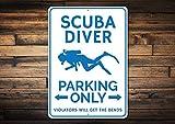 Scuba Diver Parking Sign, Scuba Decor, Scuba Diver Gift, Gift for Scuba Lover