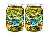 SHIPS FREE Get 2 (32 fl.oz) Jars Bread n' Butter Pickle Chips Kruegermann (64 fl.oz)