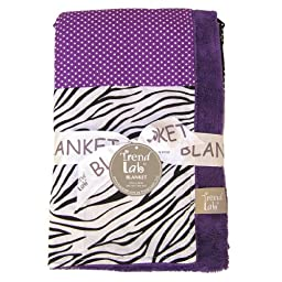 Trend Lab Multi-Patched Receiving Blanket, Grape Expectations