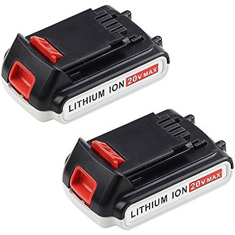 20v Max 2 0Ah Battery For Black And Decker Lithium LBXR20 LBXR20 OPE LB20 LBX20 LBX4020 2Packs