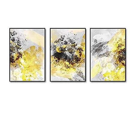 Frame Global- 3 Multi mural Set Solid wood Light Yang Triptych ...