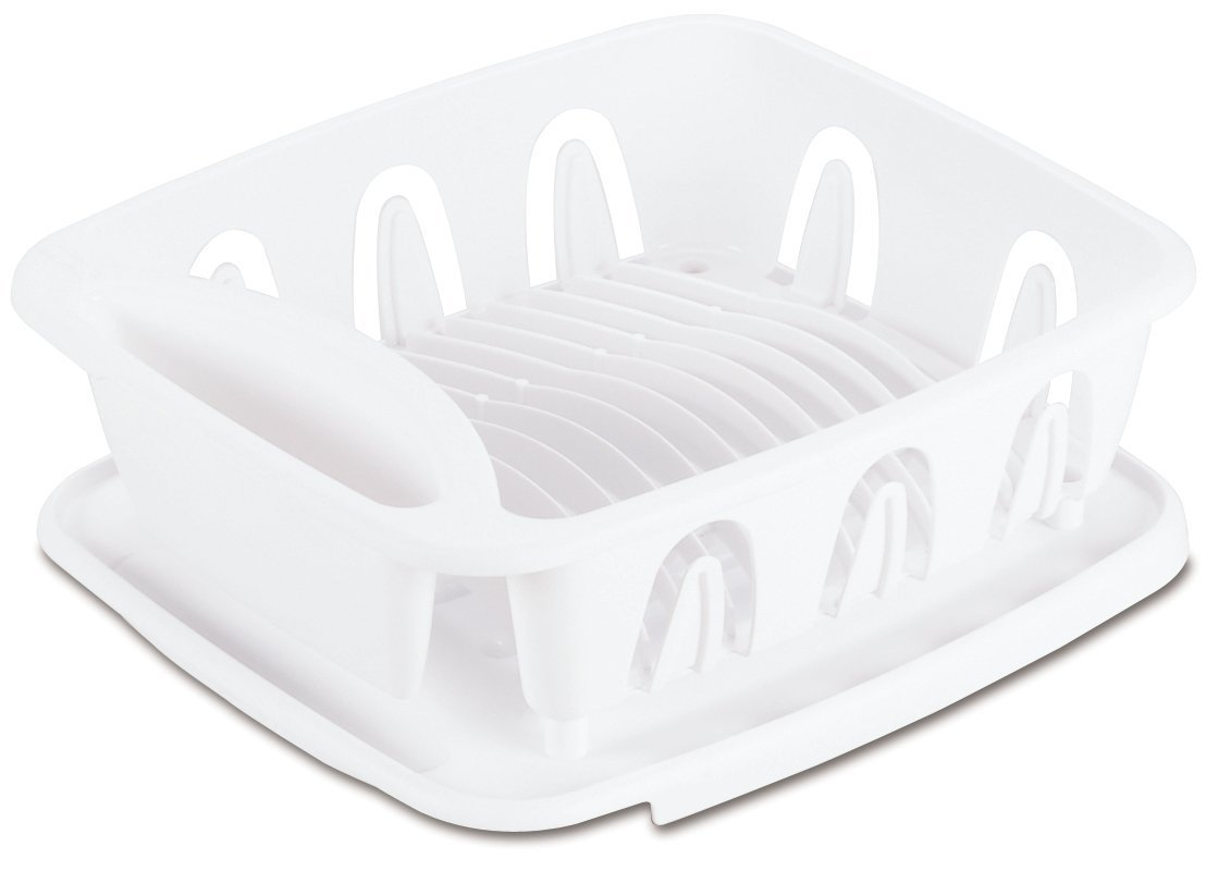 Sterilite 06368004 White Small Ultra Sink Set, (2 Piece) by STERILITE