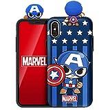Marvel Avengers Figure Mirror Card Case for Samsung Galaxy S10 (Captain America)
