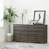 nice traditional bedroom dresser South Shore 10303 Vintage 6 Drawer Dresser in Gray Maple