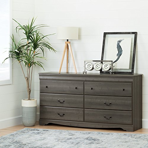 - South Shore Vintage 6 Drawer Dresser in Gray Maple