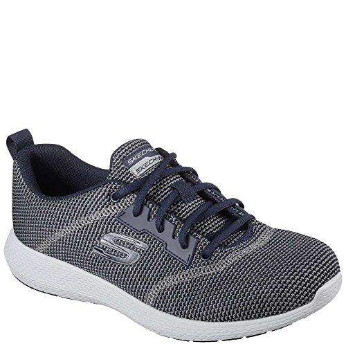 43 da Foam Traspirante Modello KULOW Tessuto Uomo Memory Mesh Skechers Blu Sneakers in Bianche ammortizzamento in ginniche e Taglia Uqy1I