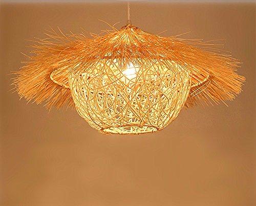 Plafoniere In Legno Rustico : Shengye stile rustico plafoniera lampada a sospensione il rattan