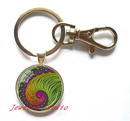 fd01c59b13 Charming fashion Keychain,FRACTAL Key Ring Fractal Keychain Jewelry Keychain  for him Art Gifts for Her Men Key Ring-HZ00236