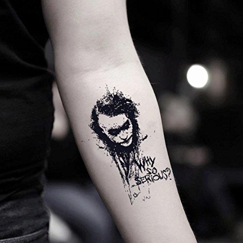 Joker Temporary Fake Tattoo Sticker (Set of 2) - TOODTATTOO.COM ()