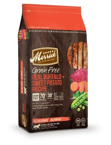 Merrick Grain Free 25-Pound Real Buffalo and Sweet Potato Dog Food, 1 Bag, My Pet Supplies