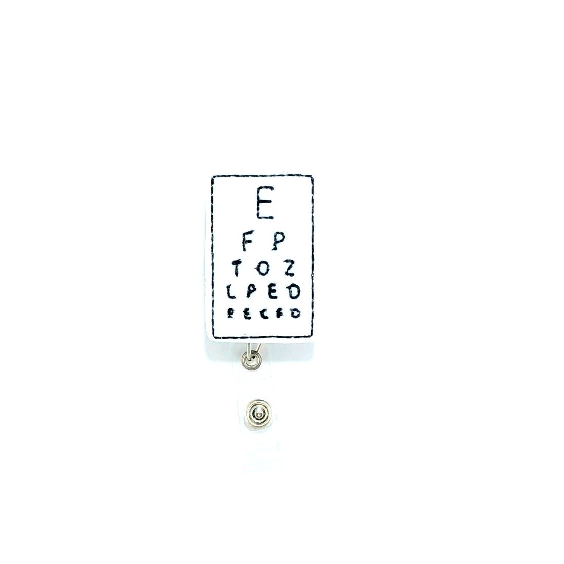 Eye Chart Retractable Badge Reel