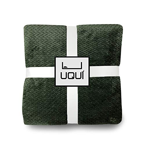 U UQUI Fuzzy Throw Blanket with Super Soft and Warm Throw Flannel Blanket 50