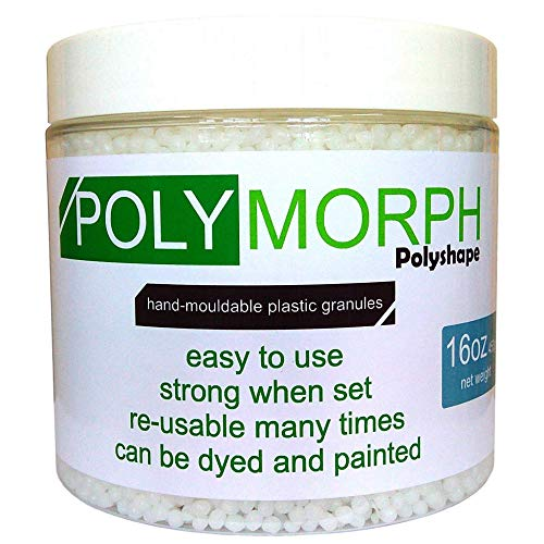 (Polyshape Polymorph hand moldable plastic 16oz tub [plastimake, thermoplastic] )